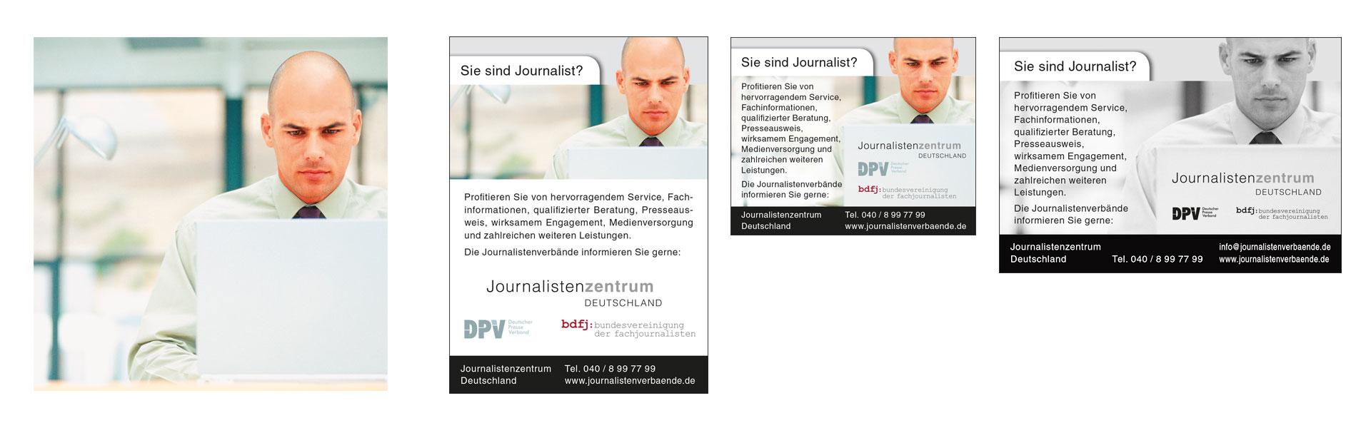 Key Visual Beispiele Anzeigenmotiv Journalistenzentrum